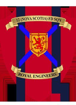 12 (Nova Scotia) Fd Sqn Plaque